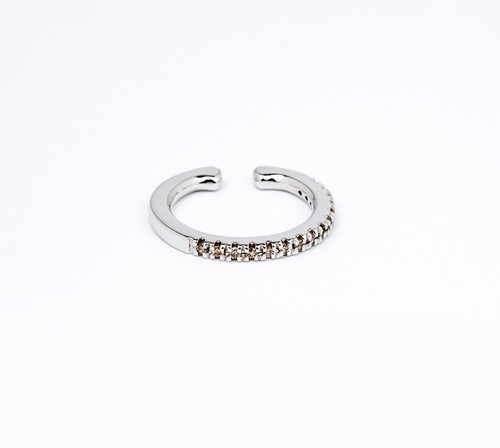 Hirotaka ヒロタカ / Diamond Ear Cuff ( WHITE GOLD )