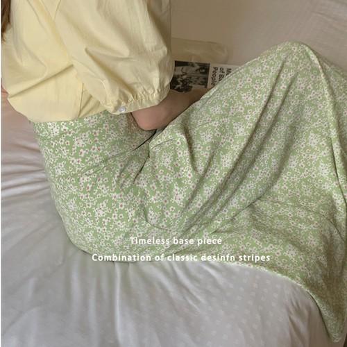 【送料無料】 小花柄スカート 全2色・U3259