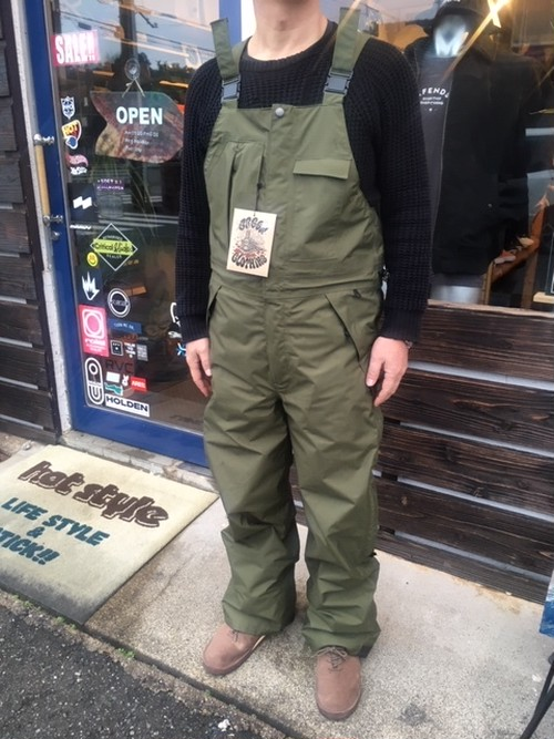 Green Clothing  Bib Pants  OLIVE Mサイズ