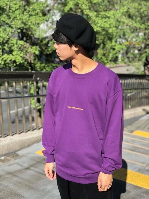 frnc. - 刺繍トレーナー - purple