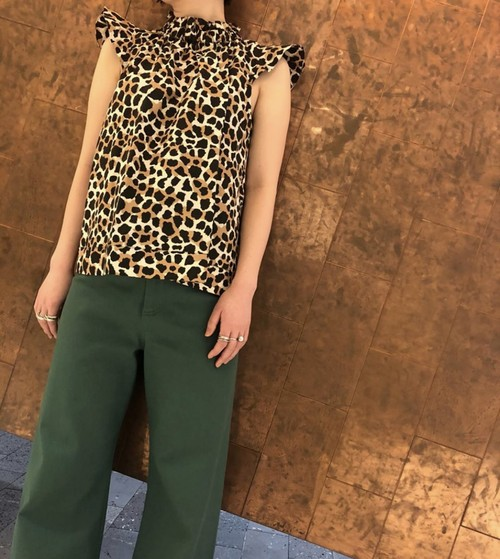 【20SS】SEA NY / Leopard sleeveless blouse
