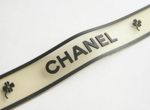 CHANEL VINTAGE (ヴィンテージ シャネル) CHANEL ロゴ ラバー ブレスレット