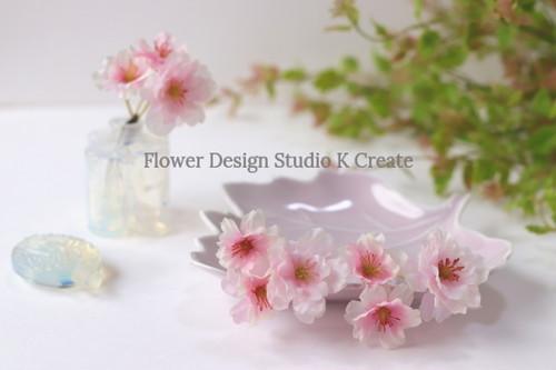 桜のUピン(3本セット) ウェディング 桜色 ピンク 桜 サクラ さくら 髪飾り ヘッドドレス 浴衣 和装 着物