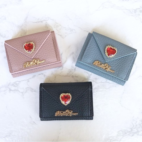 Bella tiny love letter leather wallet