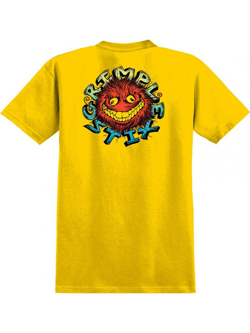 AntiHero Grimple Stix TShirt  Yellow M Tシャツ