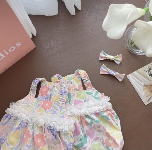 【Ohha】Fleur bubble top