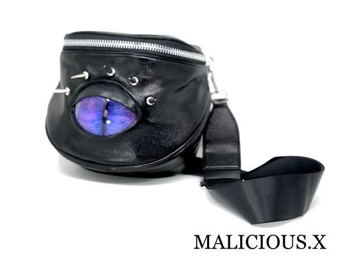 cat eye big  body bag / purple