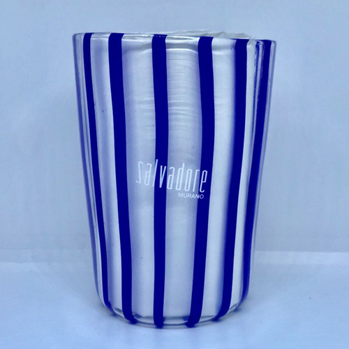 Item069 ヴェネチアンガラス グラス striscia ストリスィア ストライプ ブルー