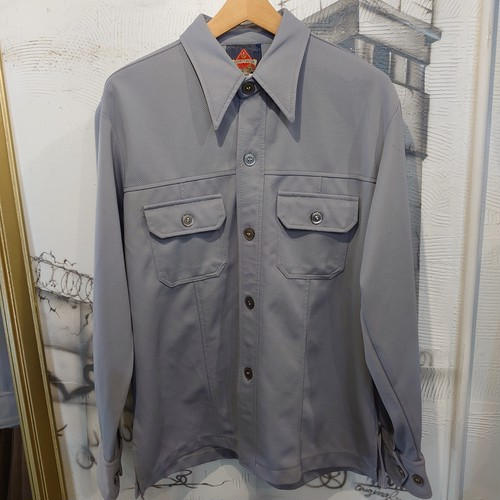 70s polyester shirt jacket