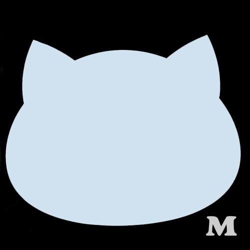 ねこ型(M)★ライトブルー