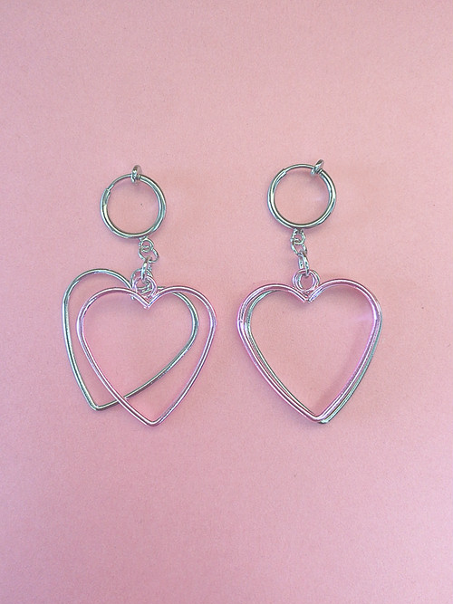 ◎SK brothers◎新作メタリックハートearring ライトピンク