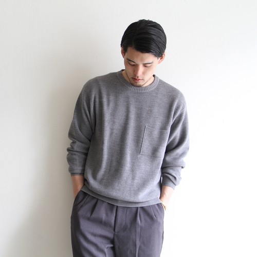 STILL BY HAND  【 mens 】cotton wool pocket kint