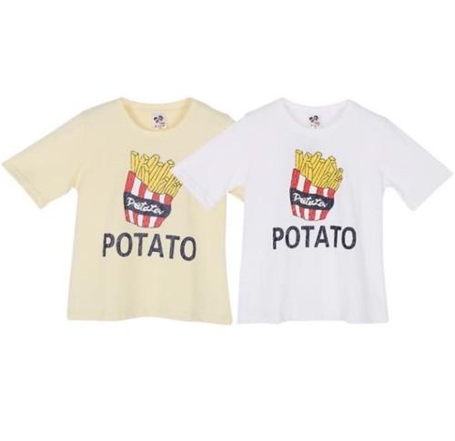ポテト柄Tシャツ(ホワイト)