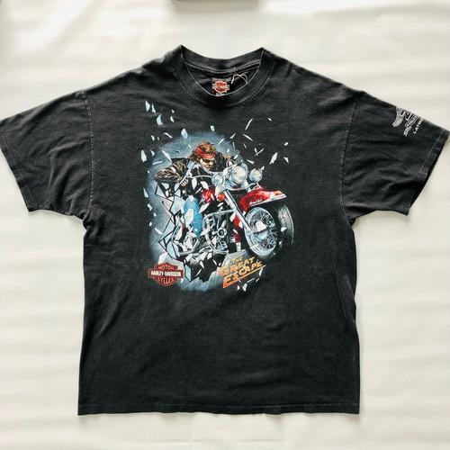 90's Hanes BEEFY-T ハーレーダビッドソン Tシャツ ブラック 黒 XLサイズ
