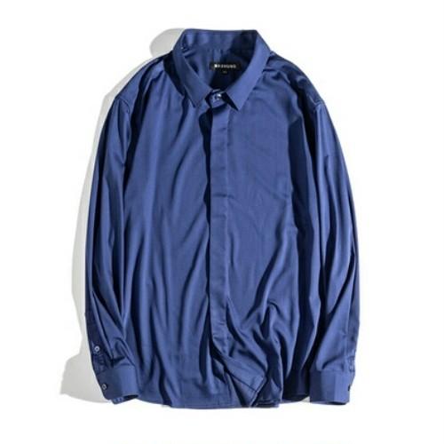 送料無料大きいサイズスーツコーデ白ピンク青フライフロント半袖ワイシャツ