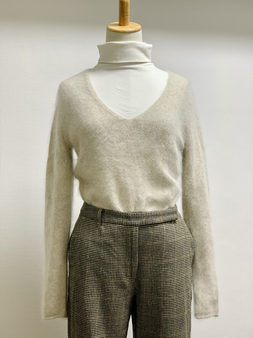 Old V-Neck Angora Sweater