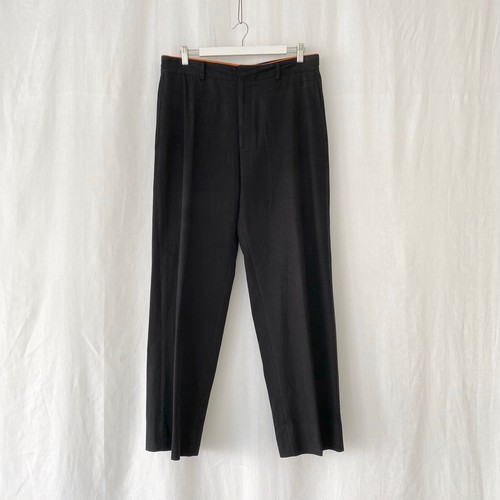 HERMES cotton slacks black