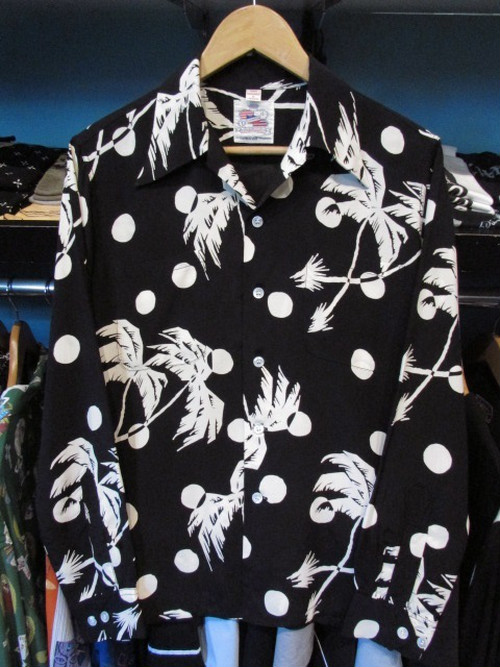 L/Sハワイアンシャツ MOONLIGHT PALMTREE DUKE KAHANAMOKU
