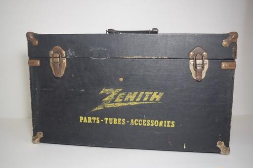 【ヴィンテージ】ZENITHウッドBOXラジオメーカー整備用具入れブラックUSA
