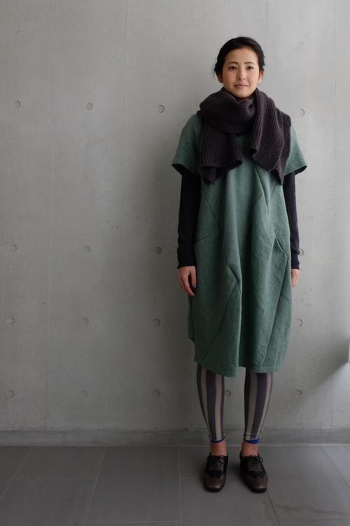 KUNYU wool linen -green-