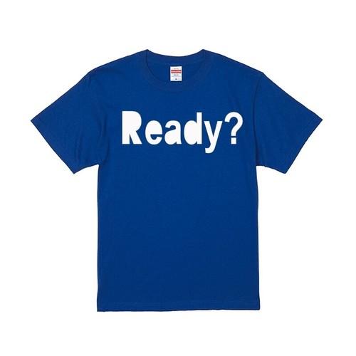 【ラスト1着】Ready? ロゴTee (BLUE) Lのみ