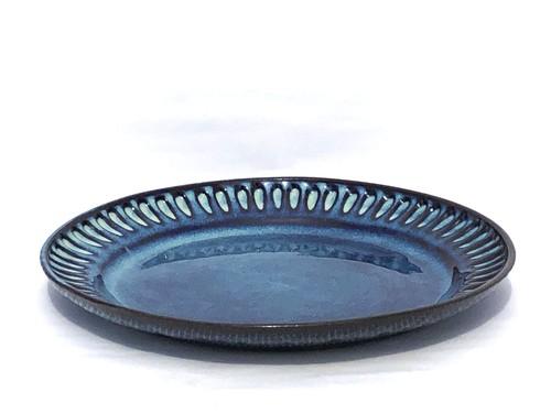 藁灰釉しのぎパスタ&カレー皿(小)