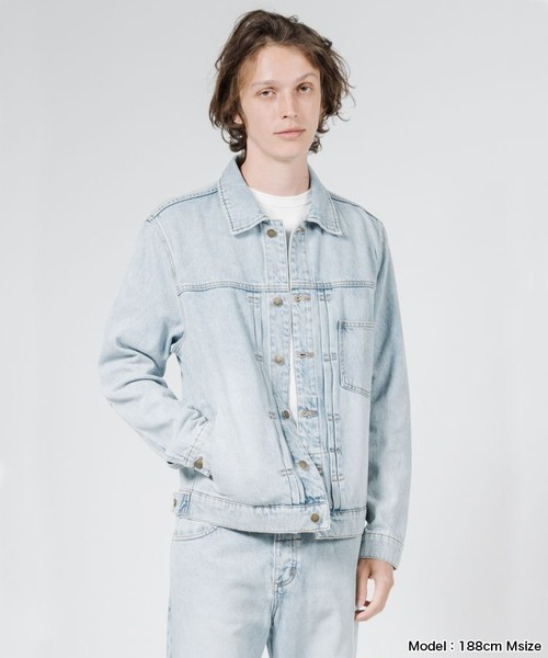 THRILLS  Ryder Oversized Denim Jacket メンズ デニムジャケット