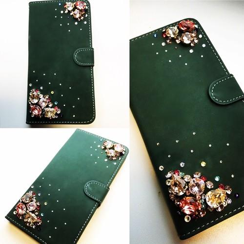 手帳型スワロフスキービジューiPhone6plusスマホカバー