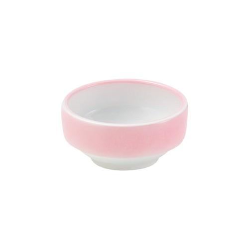 【1711-2720】強化磁器 9cm すくいやすい食器 ぼかしピンク
