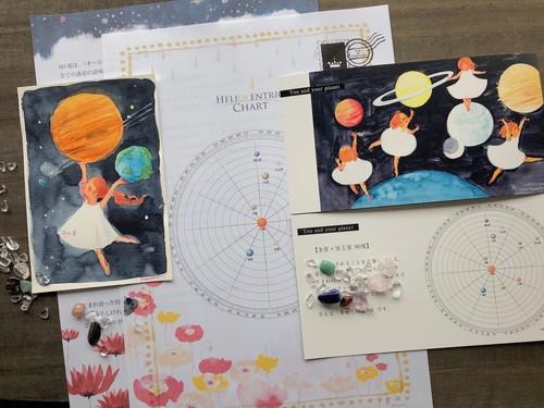 【予約・文書郵送メニュー】ヘリオ星読み「自分の取扱説明書+あなたと惑星の絵」