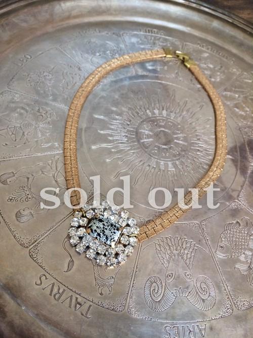 vintage necklace bijou <ncNG-RB1>