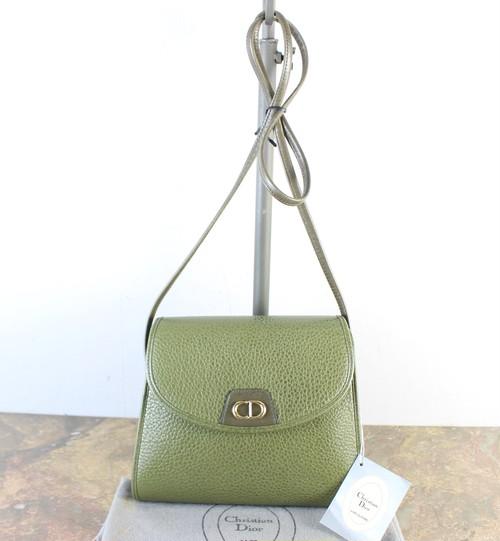 .Christian Dior LOGO LEATHER SHOULDER BAG  MADE IN FRANCE/クリスチャンディオールロゴレザーショルダーバッグ2000000056272