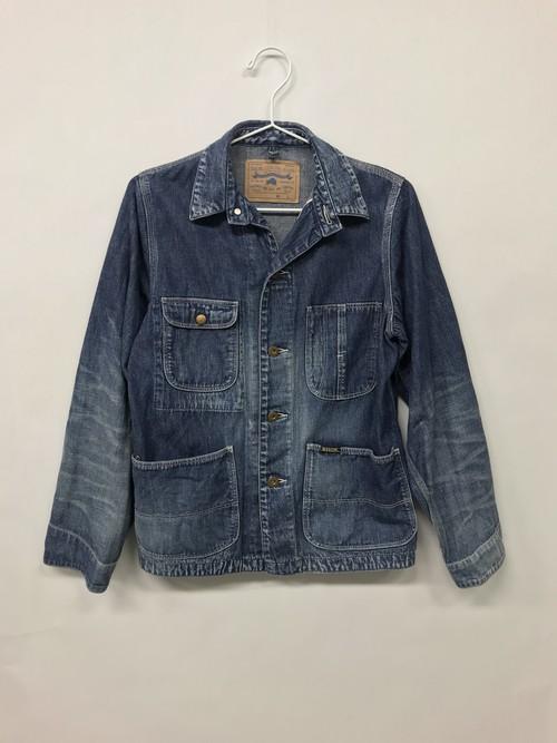 【No. BSL602 Color. 07 Indigo Dark】 Womens Selvage Work Jacket
