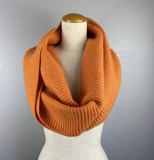 .HERMES CASHMERE100% LARGE SIZE LOGO SNOOD MADE IN SCOTLAND/エルメスカシミヤ100%大判ロゴスヌードストール 2000000043043
