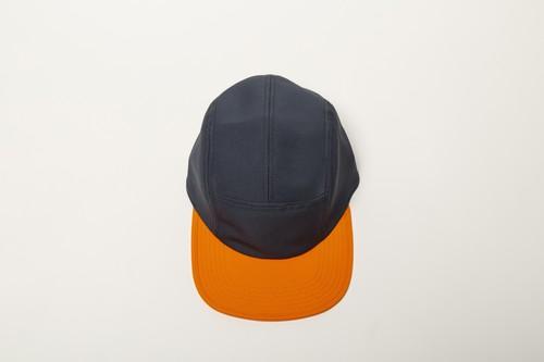 ESTER  2TONE CAMP CAP (GRAY x ORANGE)