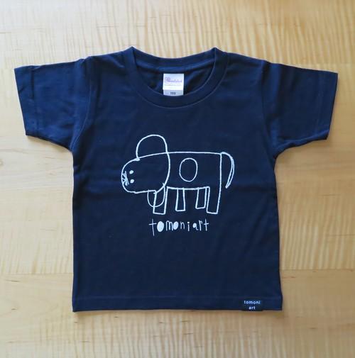 NEW! 2018キッズTシャツ NAVY いぬ