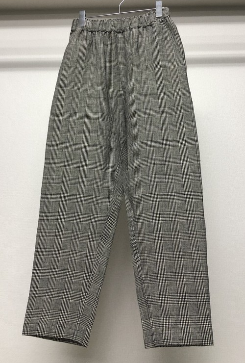 DASHIEL BRAHMANN PLAID LINEN PANTS
