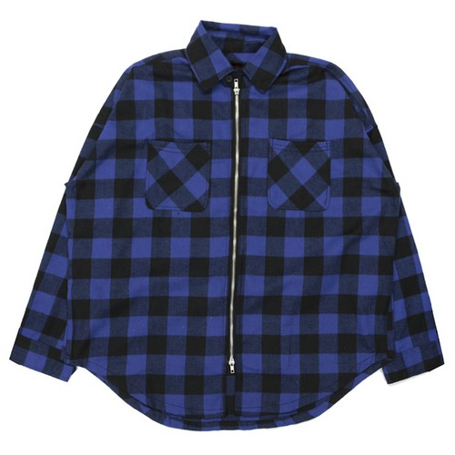 Zip shirt jacket BLUE