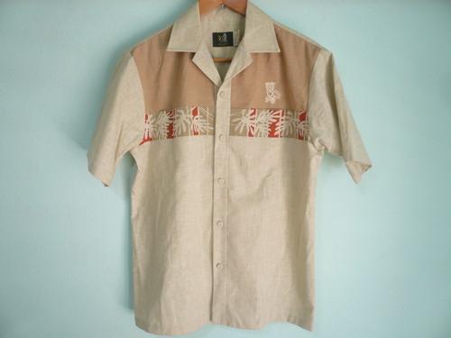 アメリカ製 ビンテージ IOLANI イオラニ 切替 パネル ハワイアンシャツ レア / 70s 80s OLD アロハ HAWAII