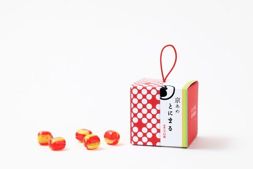 【京あめ いろむすび】紅赤(りんご) CUBEタイプ