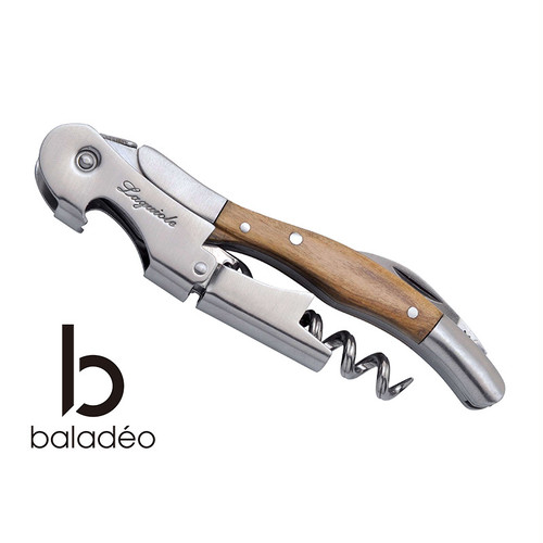 baladeo(バラデオ) Laguiole waiter's knife olive tree bd-0505 アウトドア サバイバル キャンプ ソムリエナイフ コルク抜き