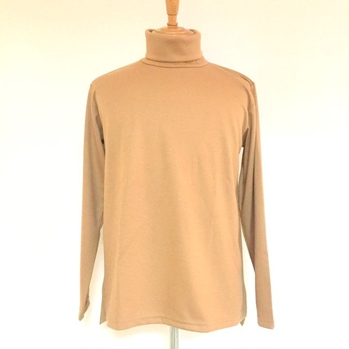 Turtle Neck Cut & Sewn Beige