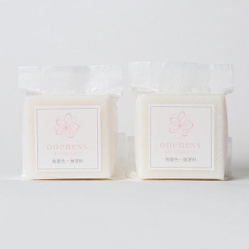 ワンネス 髪を洗う石鹸(無香料無着色)(箱なし2個セット)