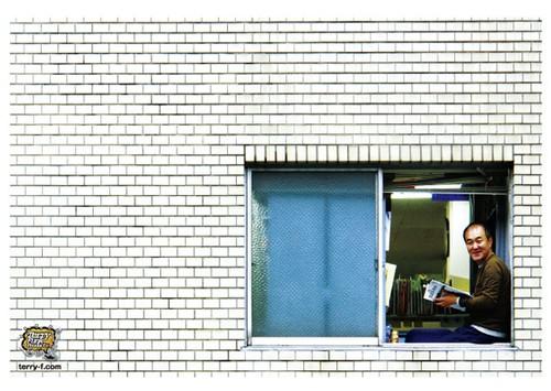 《温水洋一ポストカード》CN-4/ 窓辺