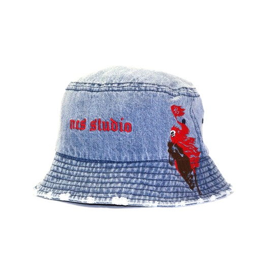 NOT COMMON SENSE × STUDIO33 Denim Bucket Hat INDUGO
