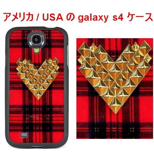 WILD FLOWER ワイルドフラワー アメリカ の スタッズ ギャラクシー s4 ケースTartan Gold Studded Heart Samsung Galaxy S4 Case エス フォー 海外 ブランド