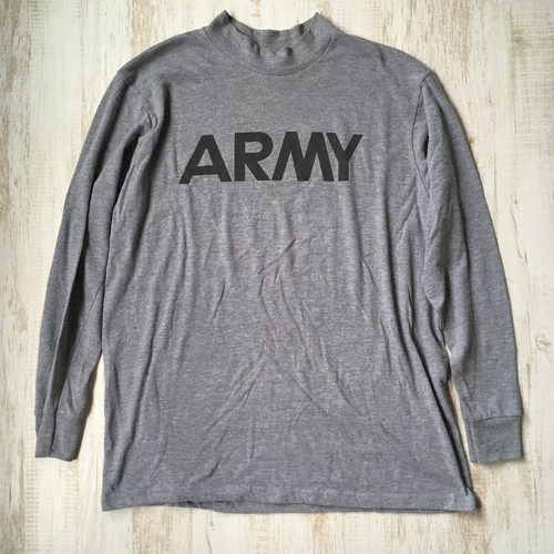 ARMY プリントロンT モックネック グレー