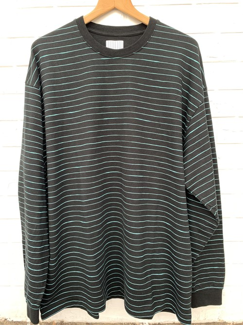 SFC SIDE STRIPE LS tee black /mint