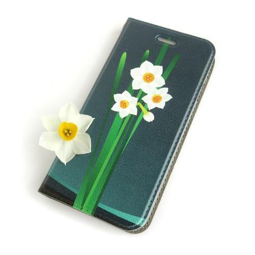 水仙 iPhoneケース[帯なし・手帳型][6/6s/7/8Plus]