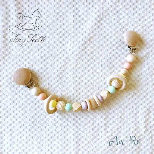Tiny Teeth シリコンビーズのマルチクリップ/ガーランド